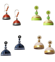Buy Traditional quilling jhumkas combo offer jhumka online
