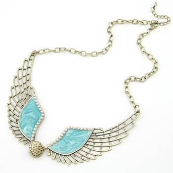 Antique Blue Wing Neckpiece