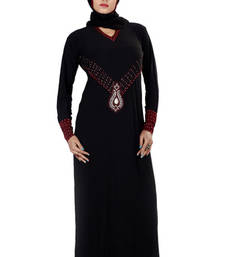 Buy Black Stone Worked Readymade Burka eid-abaya online