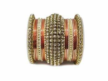 Orange zircon bangles-and-bracelets