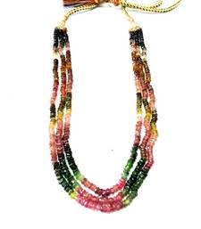 Buy Natural, Untreated And best quality Tourmaline Facetated Beads Strands Necklace online