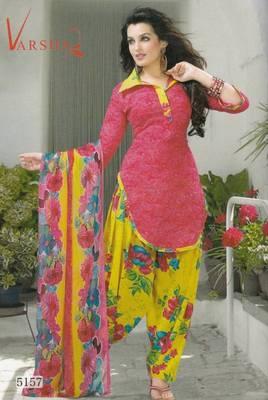 Crepe dress material elegant designer unstitched salwar suit d.no 5157