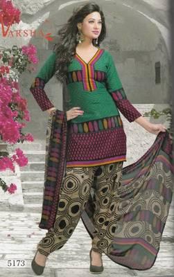 Crepe dress material elegant designer unstitched salwar suit d.no 5173