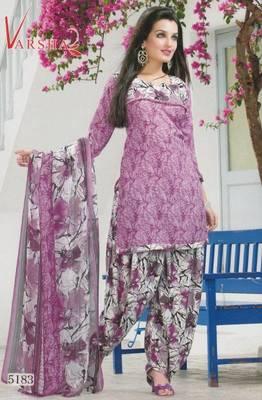 Crepe dress material elegant designer unstitched salwar suit d.no 5183