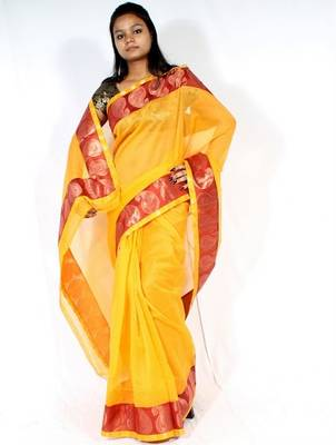 Designer cotton supernet Fancy Border saree