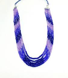 Buy Blue Sapphire Look Shaded Strand Necklace online