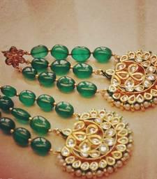 Buy Green Emerald Jhoomar Earrings stud online