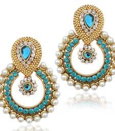 Buy Pearl traditional ethnic indian earring danglers-drop online