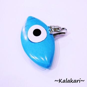 Blue Turquoise Stone Third Eye Locket Set