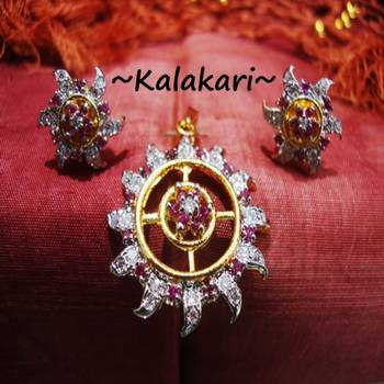 Ruby Cz Diamond Locket 7