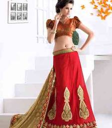 Buy multicolor embroidered georgette saree with blouse lehenga-saree online