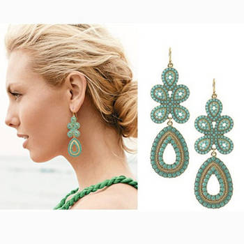 Green fiesta Earrings