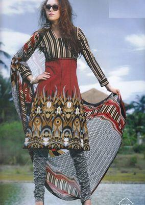Elegant Cotton Dress Material With Chiffon Dupatta Unstitched Salwar Suit D.No 3050