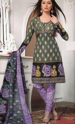 Cotton Dress Material Elegant Designer Unstitched Salwar Suit D.No 3171