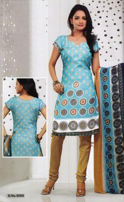 Dress Material Elegant French Crepe Printed Unstitched Salwar Kameez Suit D.No 5069