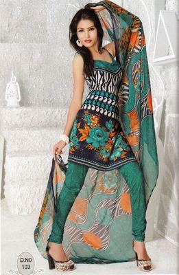Dress Material Elegant French Crepe Printed Unstitched Salwar Kameez Suit D.No N103