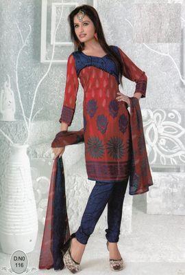 Dress Material Elegant French Crepe Printed Unstitched Salwar Kameez Suit D.No N116