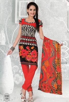 Dress Material Elegant French Crepe Printed Unstitched Salwar Kameez Suit D.No N120