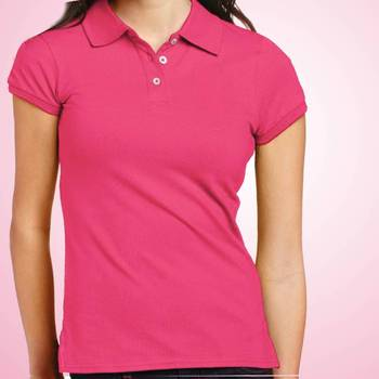 Girls Plain Collar Tshirt at Offer, Plain Polo Tshirts for Women at Deal Price