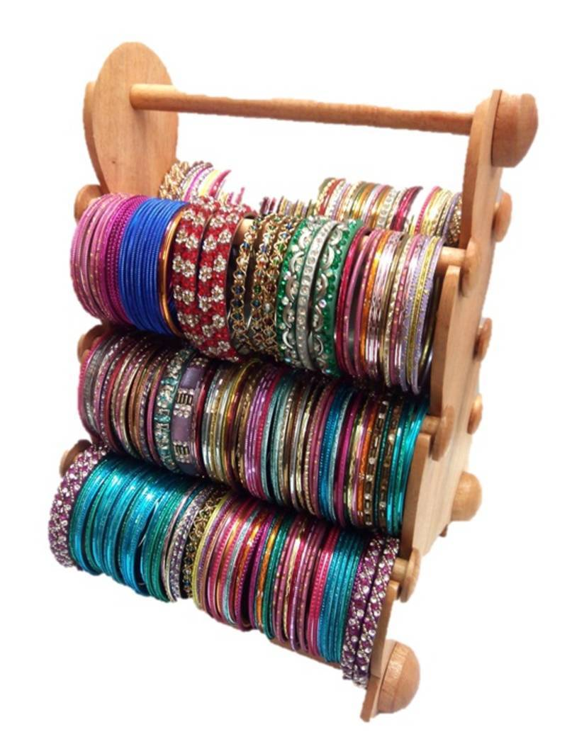 Buy Brown 6 Rod Bangle Stand Online