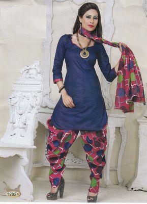 Cotton Dress Material Elegant Designer Unstitched Salwar Suit D.No 12024
