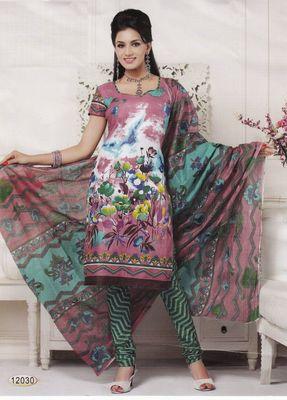 Cotton Dress Material Elegant Designer Unstitched Salwar Suit D.No 12030