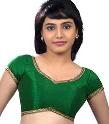 Buy Butterfly.light ,soft, wing shaped, padded ready made stitched blouse green readymade-blouse online