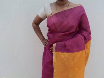 Mystic Pink Saree