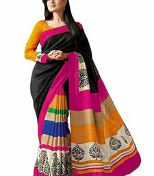 Buy Ameesha patel bhagalpuri silk printed black saree - 8678 printed-saree online