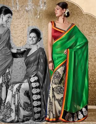 Elegant Designer Sari Gun8415c
