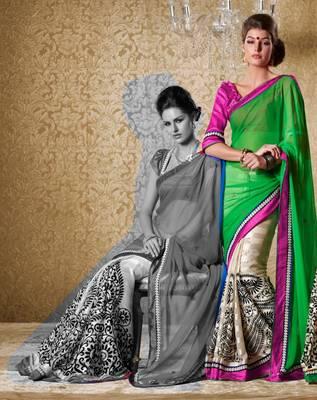 Elegant Designer Sari Gun8420b