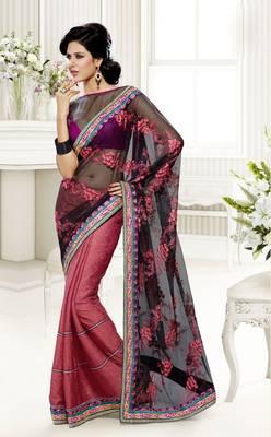 Elegant Designer Sari Saffron 219