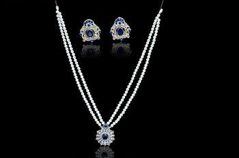 Elegant Eclat Blue Pendant Set