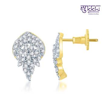 Sukkhi Sublime Gold and Rhodium Plated CZ Earrings(134E1300)