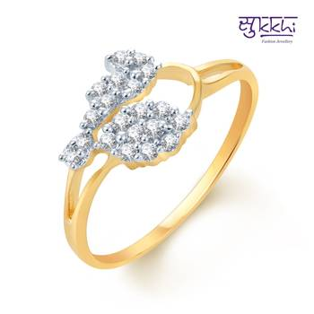 Sukkhi Incredible Gold and Rhodium Plated CZ rings(178R350)
