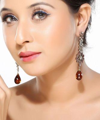Victorian Style Amethyst Dangler Earrings