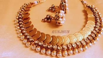 pearl royal goddess laxmi ginni set
