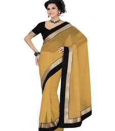 Buy Being embroidered georgette saree with blouse below-500 online
