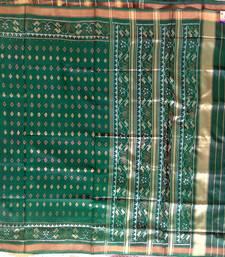 Buy Green hand_woven silk saree with blouse silk-saree online