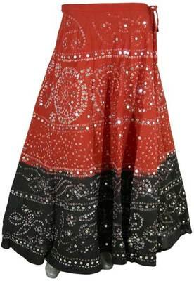 Tie-Dye Bandhani Cotton Skirt