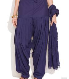 Buy Blue Cotton Patiyala and Dupatta Set patialas-pant online