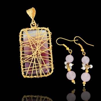 Wire Pendants with Earrings