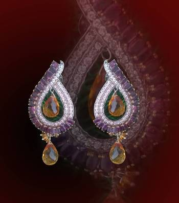 Tear drop earrings with a touch of ethnic and classy look