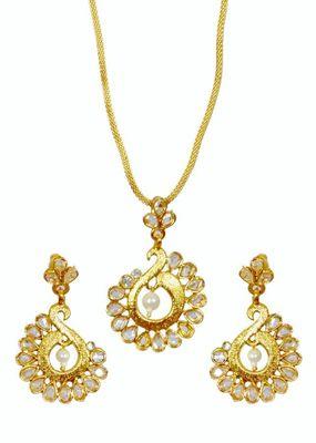 Kshitij Pearl Gold pendants