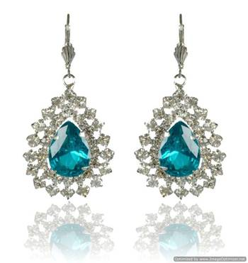 Kshitij Light Blue Radiance Chandelier Earrings
