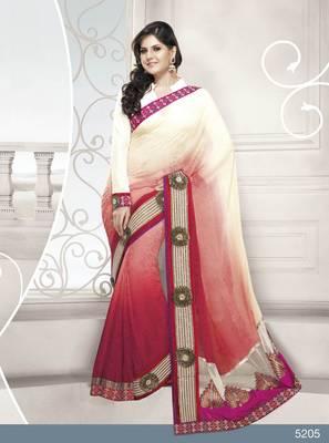 Designer Elegant Zarine Khan Bollywood Sari STUDIO5205