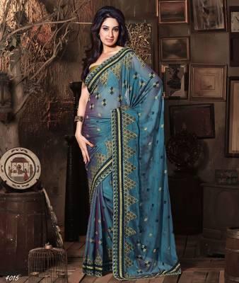 Designer Elegant Designer Sari Dhamaal4015
