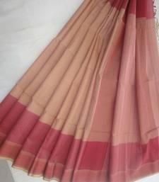 Buy pista embroidered maheshwari saree with blouse maheshwari-saree online