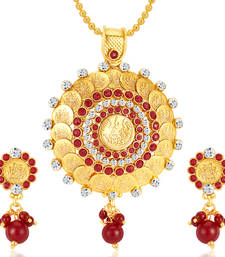 Buy Fascinating Gold Plated Pendant Set gifts-for-girlfriend online