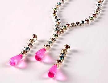Multi Cocktail Diamond Necklace Set
